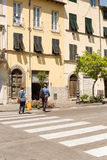 Oude Ommuurde Stad van Luca Royalty-vrije Stock Foto