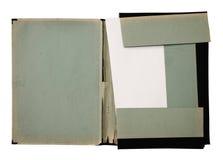 Oude omslag met stapel documenten Royalty-vrije Stock Afbeelding