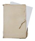 Oude omslag met stapel oude documenten Stock Afbeelding
