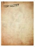 Oude omslag voor documenten stock foto