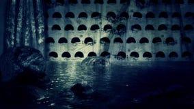 Oude Ondergrondse Catacomben stock footage