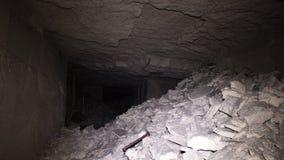 Oude ondergrondse passage royalty-vrije stock foto's
