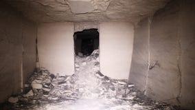 Oude ondergrondse passage stock fotografie