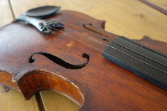Oude onscherpe viool Royalty-vrije Stock Foto
