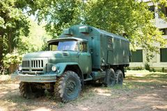 Oude oorlogsvrachtwagen Royalty-vrije Stock Afbeelding