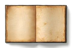 Oude open boek lege pagina's Royalty-vrije Stock Foto