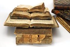 Oude open godsdienstige boeken Stock Fotografie