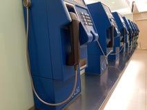 Oude openbare telefoons stock foto
