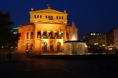 Oude Opera in Fankfurt, Duitsland Royalty-vrije Stock Fotografie