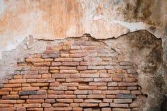Oude oranje bakstenen muur in antiquiteit royalty-vrije stock foto's