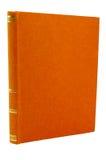 Oude oranje boekdekking Stock Foto's
