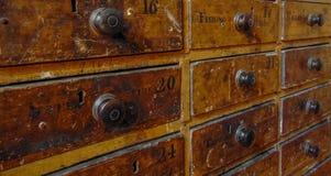 Oude Organisator Cabinet Royalty-vrije Stock Afbeeldingen
