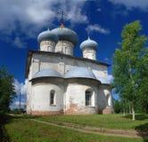 Oude orthodoxe kerk in Belozersk royalty-vrije stock foto's