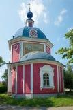 Oude Orthodoxe Kerk van de Vergine Santa (1789) De gouden Ring van Rusland Stock Foto's