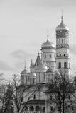 Oude orthodoxe kerk van zwart-wit toon Royalty-vrije Stock Foto