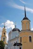 Oude orthodoxe kerken Het Kremlin in Kolomna, Rusland royalty-vrije stock afbeeldingen