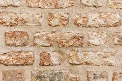 Oude oude bakstenen muur grunge textuur Stock Fotografie