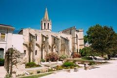 Oude Oude Christelijke tempel St Krijgs in Avignon, Frankrijk Royalty-vrije Stock Foto