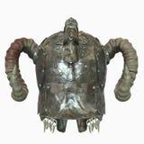 Oude oude helm met hoornen 3D illustratie Royalty-vrije Stock Afbeelding