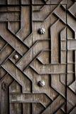 Oude oude houten deco van het deurijzer handcraft Stock Foto's