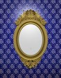 Oude ovale spiegel Stock Foto's