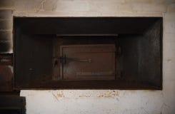 Oude oven in de molen royalty-vrije stock foto
