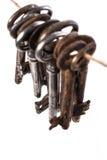 Oude, overladen sleutels Royalty-vrije Stock Foto