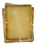 Oude pagina met linten en boog Stock Afbeeldingen