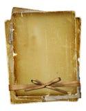 Oude pagina met linten en boog Royalty-vrije Stock Foto