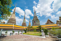 Oude Pagode of Chedi in Wat Pho, Thailand Stock Fotografie