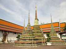 Oude Pagode of Chedi in Wat Pho, Thailand Royalty-vrije Stock Foto's
