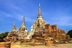 Oude pagode en ruïne met hemel Stock Foto's