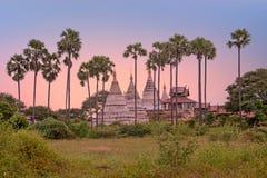 Oude pagoden in het platteland van Bagan in Myanmar Stock Afbeeldingen
