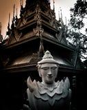 Oude pagodetempel royalty-vrije stock fotografie