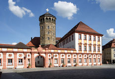 Oude paleis en kerktoren Royalty-vrije Stock Fotografie