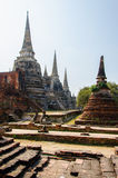 Oude paleizenpagode in Ayutthaya, Thailand Royalty-vrije Stock Afbeelding