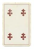 Oude palying kaart van clubs royalty-vrije stock foto's