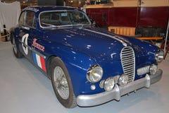 Oude Panamerica-raceauto, die Frankrijk vertegenwoordigen Stock Foto's
