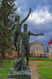 Oude parkbeeldhouwwerken van de Sovjetera royalty-vrije stock fotografie