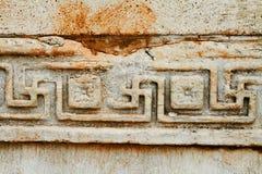 Oude patronen in Ephesus, Turkije. Royalty-vrije Stock Foto's