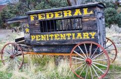 Oude Penitentiary Wagen Stock Foto