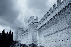 Oude perimetermuren van de vesting Royalty-vrije Stock Afbeeldingen