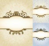 Oude Perkament Koninklijke Achtergrond Royalty-vrije Stock Fotografie
