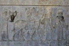 Oude Persepolis Complex in Pari, Iran stock afbeelding