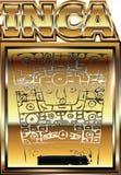 Oude Peruviaanse gouden ornamentillustratie Royalty-vrije Stock Afbeeldingen