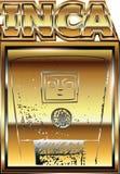 Oude Peruviaanse gouden ornamentillustratie Stock Afbeeldingen