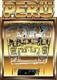 Oude Peruviaanse gouden ornamentillustratie Stock Afbeelding