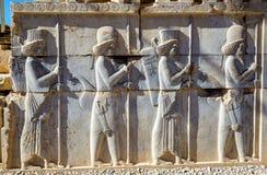 Oude Perzische gravure in Persepolis royalty-vrije stock afbeeldingen