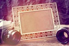 Oude photograpy voorwerpen stock afbeelding