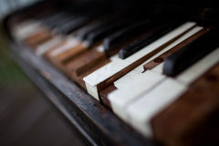 Oude piano Royalty-vrije Stock Afbeelding